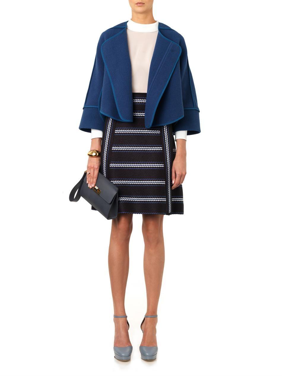 Chloé Collarless melton-wool jacket