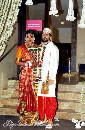 Bollywood Actress Sameera Reddy Wedding Pictures Celebrity Bride Sameera Reddy Bollywood