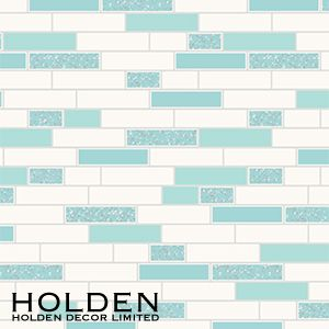 Picture Of Tiling On A Roll Wallcovering Teal Silver Rectangle Tile Tile Wallpaper Rectangle Tiles Granite Tile