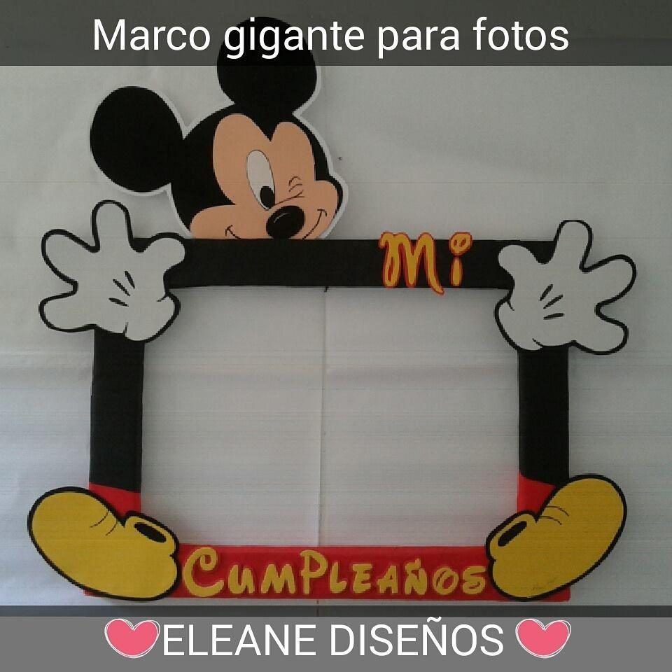 MARCO GIGANTE PARA FOTOS DE MICKEY | MARCOS GIGANTES | Pinterest ...