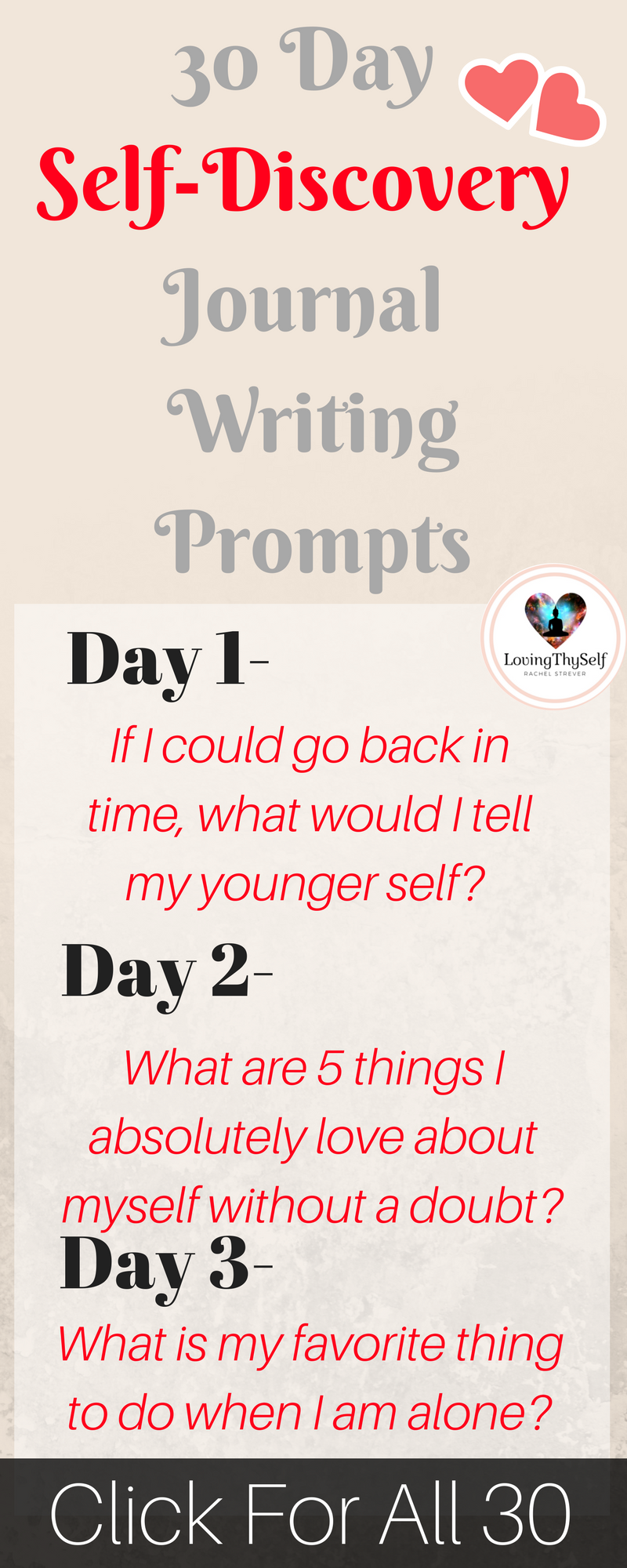 003 30 Day Journal Prompts For SelfDiscovery Journal