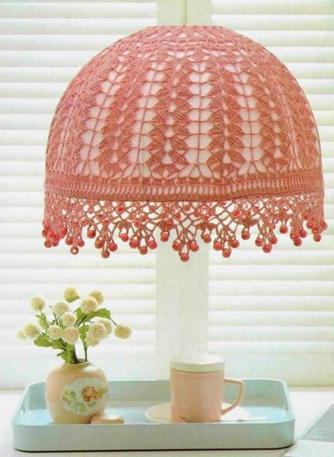 35 Modern Ideas For Crochet Designs Latest Trends In Decorating Crochet Lamp Crochet Lampshade Crochet For Home