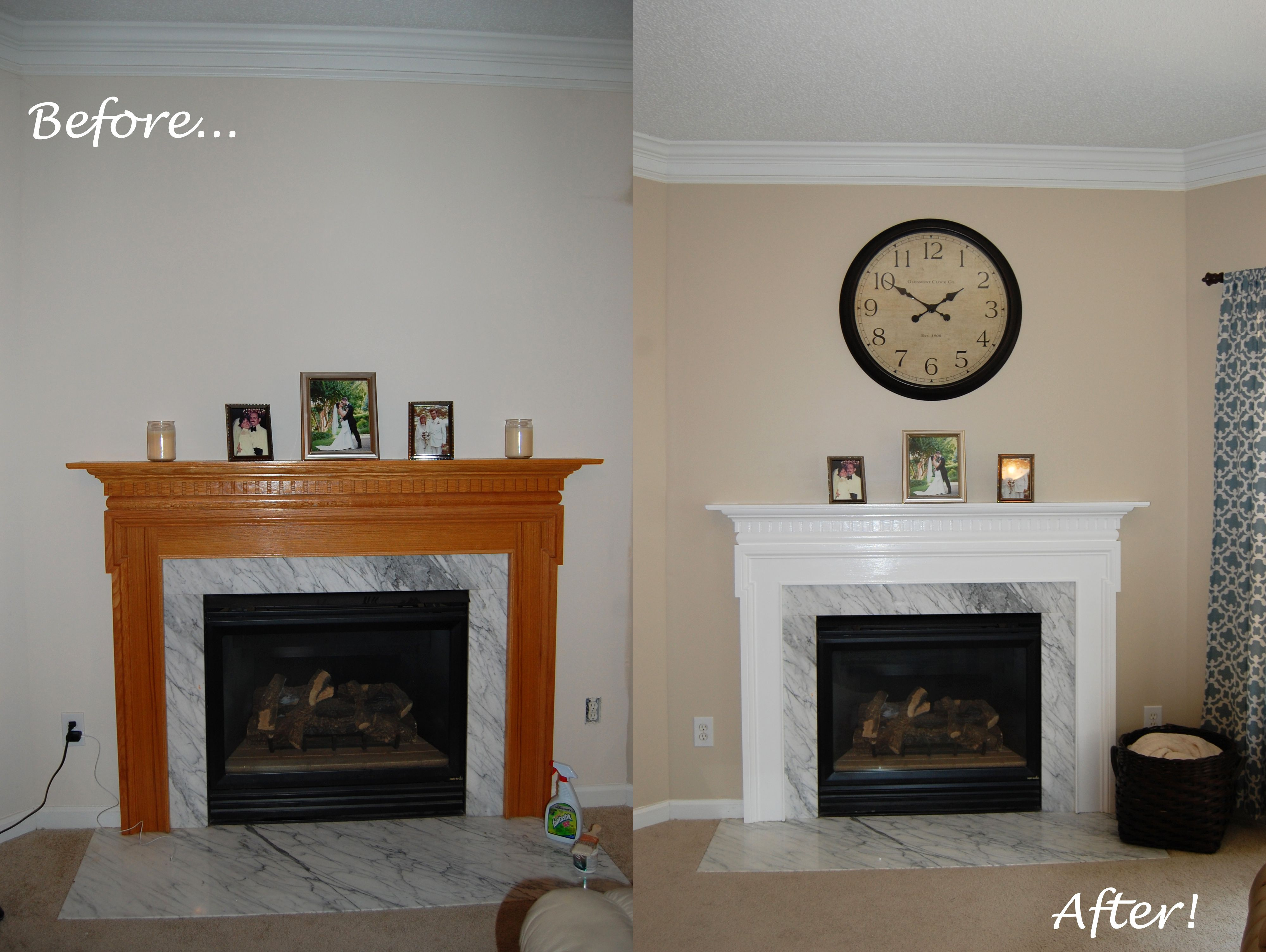 Fireplace Makeover Excuse The Mess