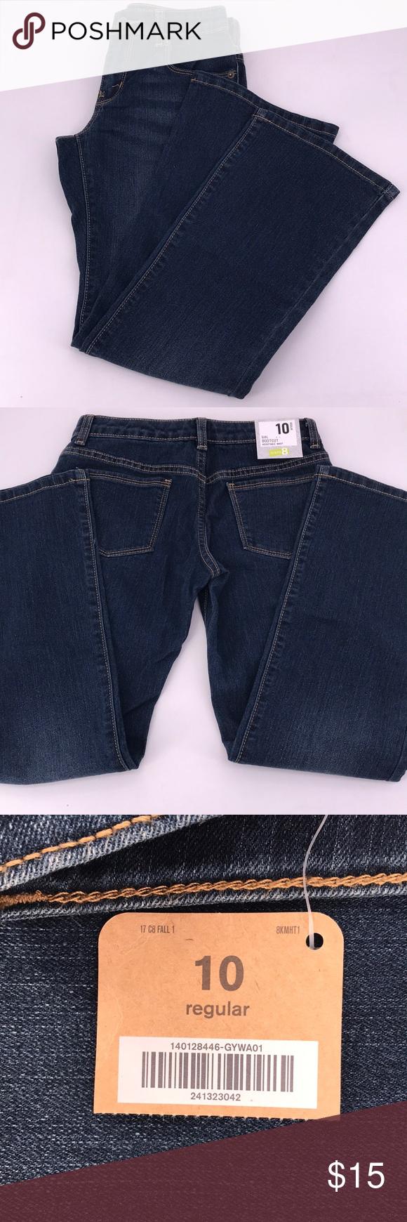 Size 8 Plus Crazy 8 Girls Denim Jeans Bootcut Adjustable Waist NWT