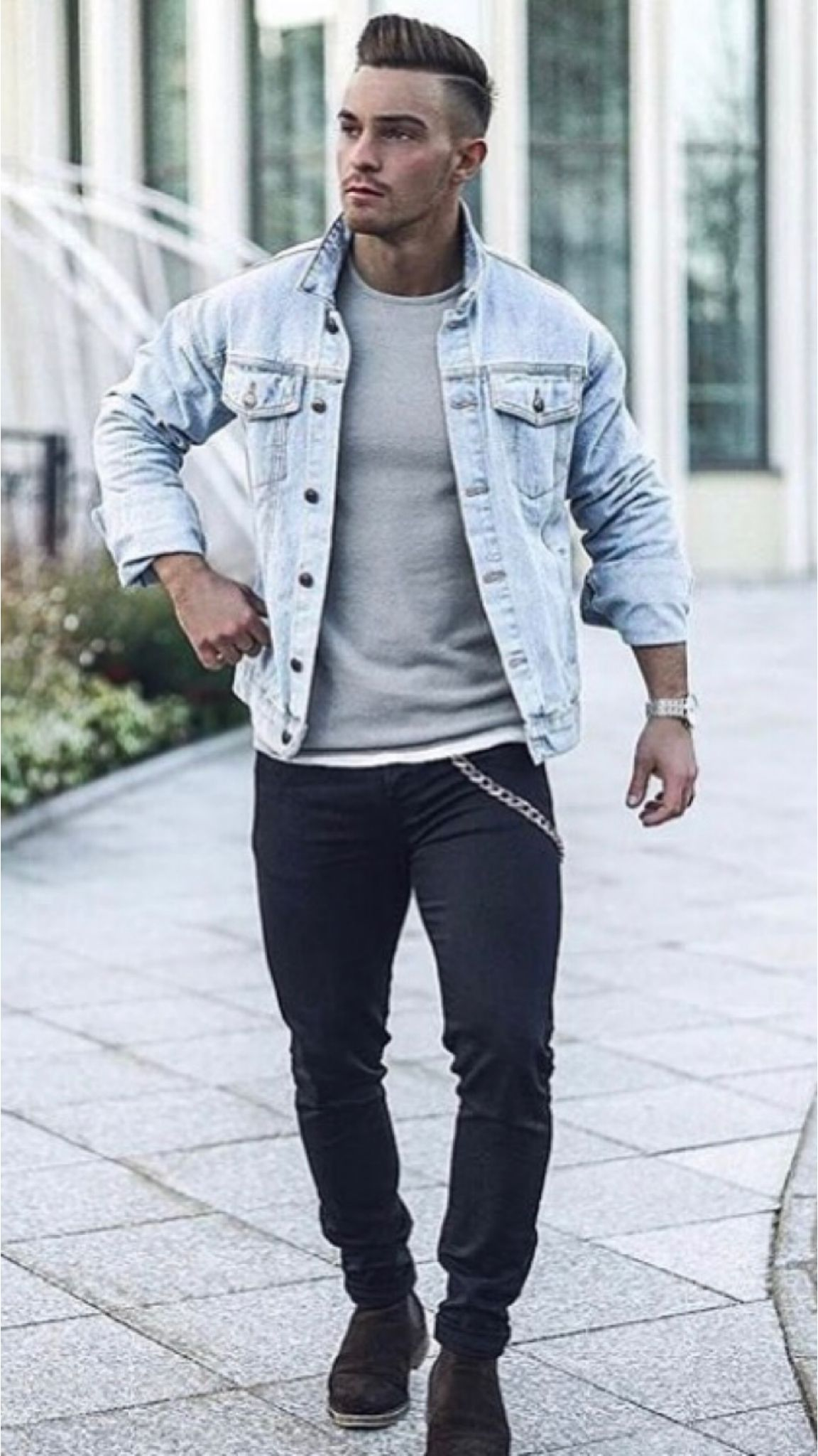 23 Jeans Jacket Outfits You Ll Love Denim Jacket Men Outfit Mens Casual Outfits Summer Mens Casual Outfits [ 2048 x 1152 Pixel ]