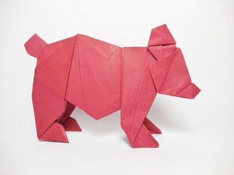 ORIGAMI BEAR TUTORIAL (oso origami)