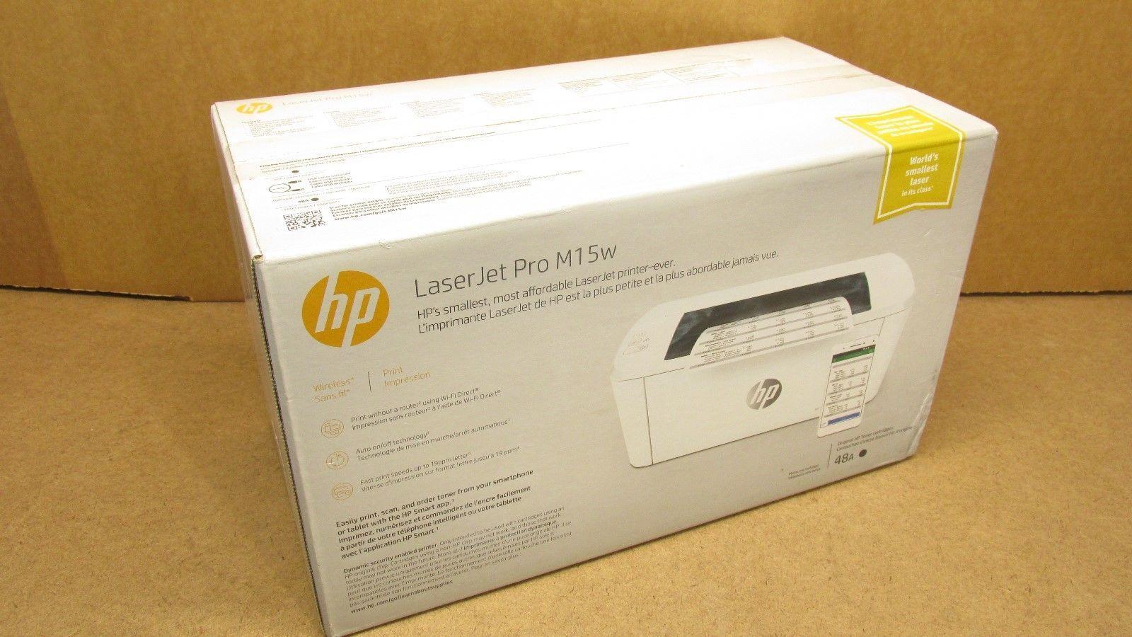Hp Laserjet Pro M15w Wireless Single Function Monochrome Laser Printer W2g51a Laser Printer Printer Monochrome