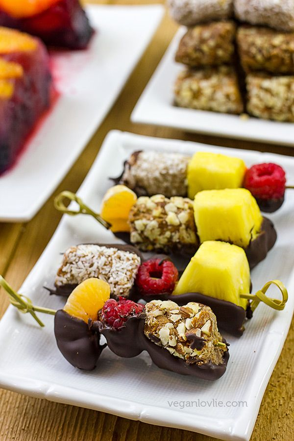 Vegan Dessert Platter With Fruit Terrine Fruit And Date