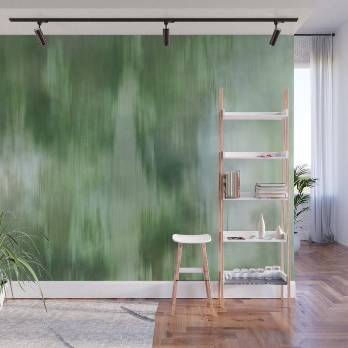 Green Fusion Illustration – Adhesive Wallpaper – Removable Wallpaper – Wall Sticker – Full Size Wall Mural