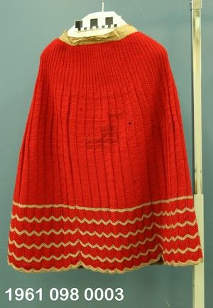 Red Wool Crocheted Petticoat| collections.mohistory.org