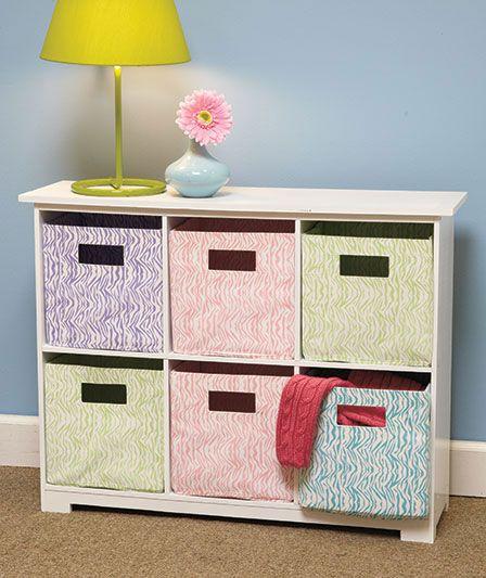 6 Bin Animal Print Storage Units Organization Furniture Storage Bins Baskets Storage Bins