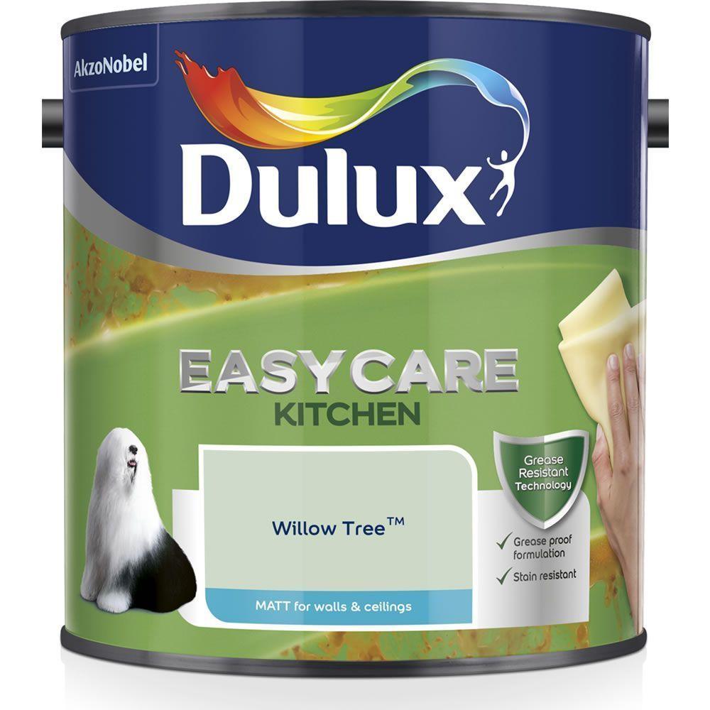 Dulux Kitchen Easycare Willow Tree Matt Emulsion Paint 2 5l 25l Dulux Easycare In 2020 Dulux Kitchen Paint Polished Pebble