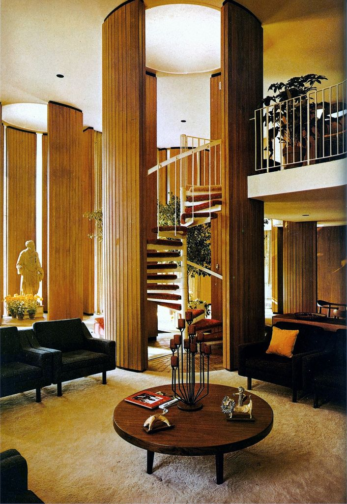 Portman Residence By Edwards Portman 1964 Mid Century Modern Interior