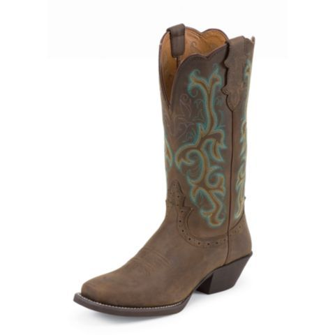 Justin Women S Stampede Cowboy Boot Sorrel Apache Brown