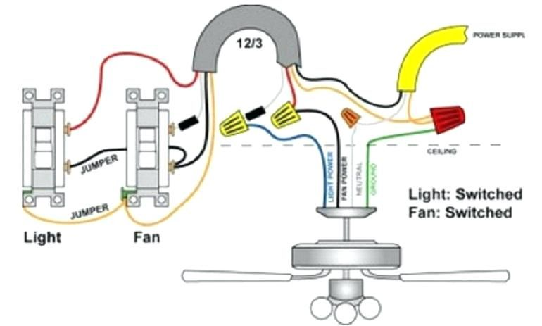 Electrical Wiring Diagram For A Ceiling Fan