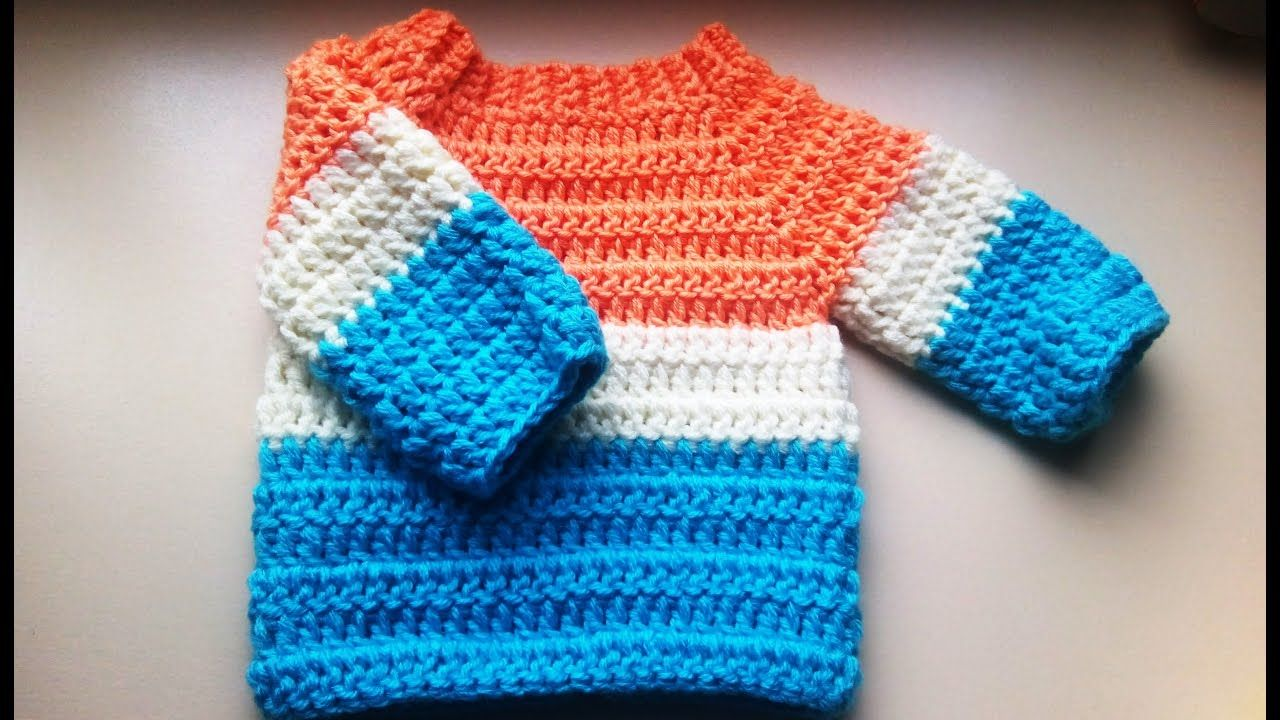 crochet baby sweater/jumper/pullover | BEBE | Pinterest | Häckeln