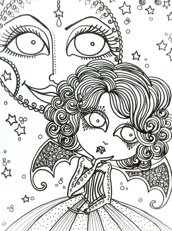 Vampire Coloring Book For You To Color Lots Of By Chubbymermaid