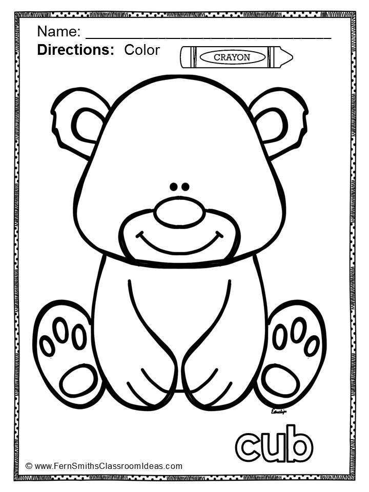 Color For Fun Long And Short Vowels Coloring Books Coloring Pages Cubs Colors