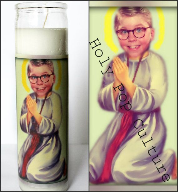 Saint Ralphie Prayer Candle   A Christmas Story by HolyPopCulture