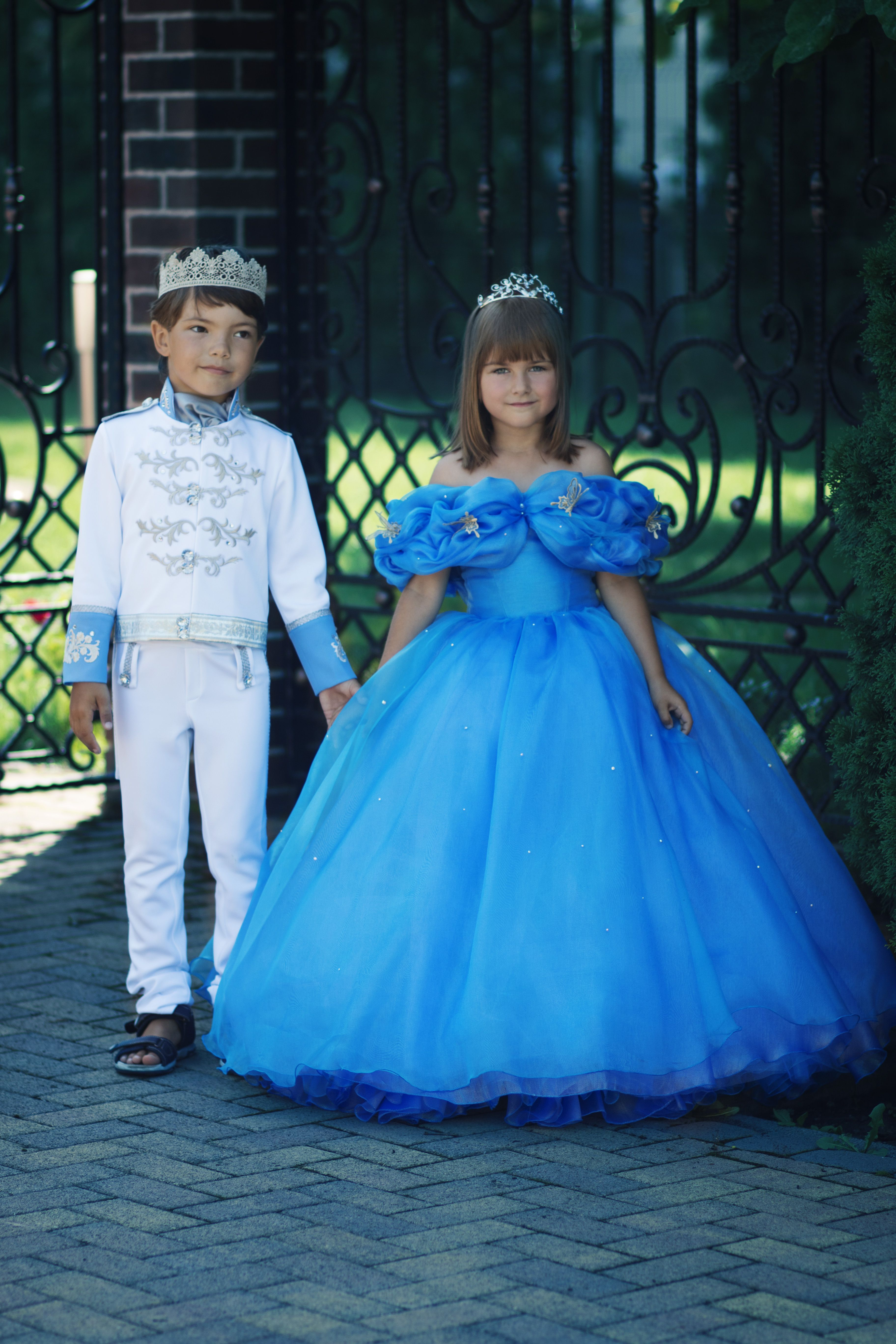 Cinderella And Prince Charming Costumes For Boy And Girl Disney Cinderella  Movie 2015 Cosplay Halloween Outfit Wedding Ring Bearer Suit And Flower  Girl ...