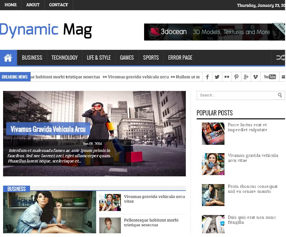 Dynamic mag responsive blogger template web design pinterest dynamic mag responsive blogger template maxwellsz