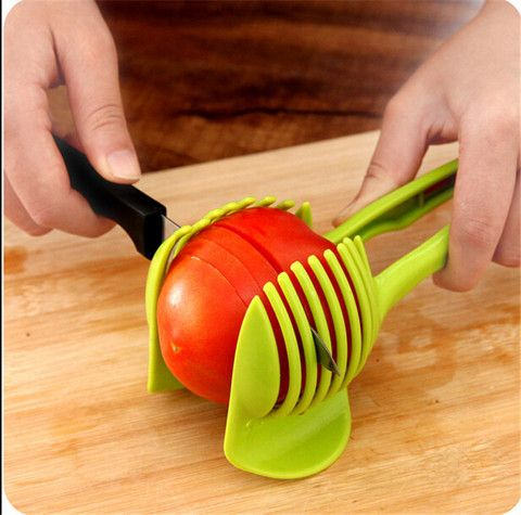 Tomato Stand Slicer Fruits Cutter Kitchen Tool Gadget Cooking Food