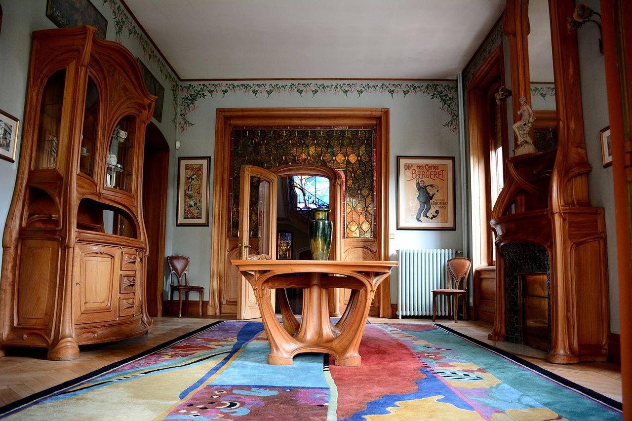 Eetkamer meubilair van eugène vallin art nouveau art