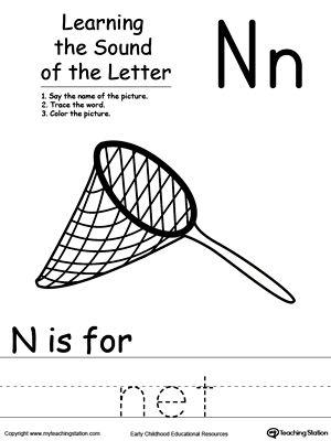 learning beginning letter sound n phonics worksheets letter sounds letter worksheets. Black Bedroom Furniture Sets. Home Design Ideas