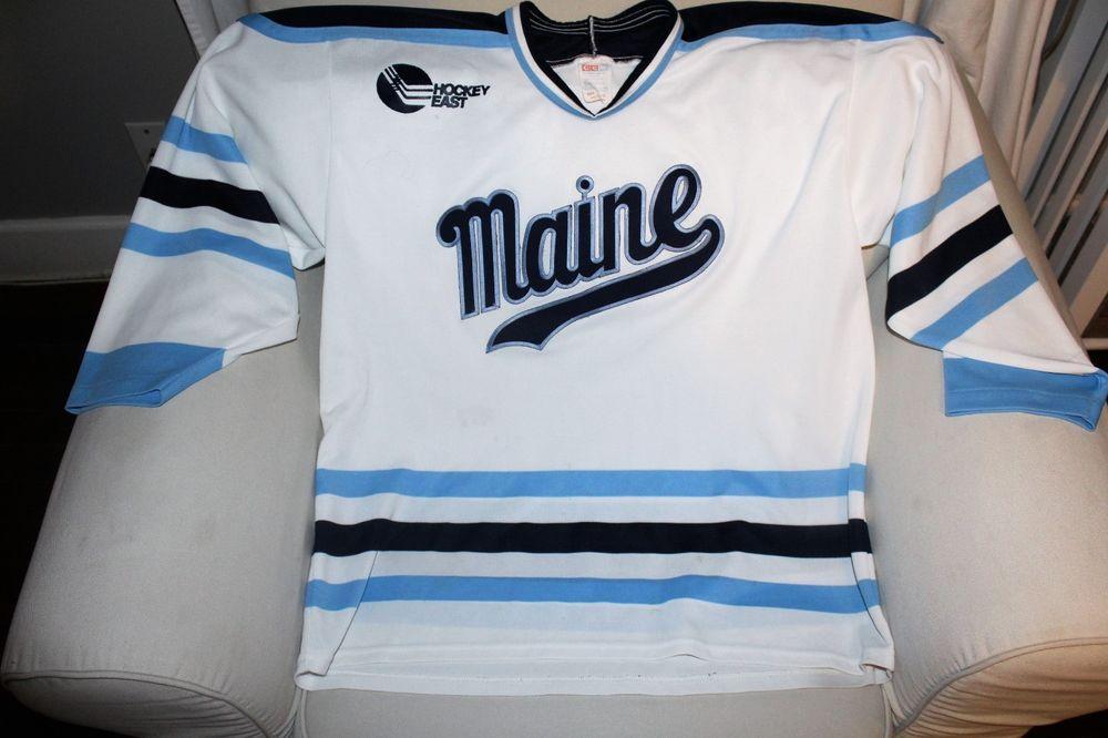 Maine Black Bear Hockey Jersey Size Men S Xl Ccm Maineblackbears With Images Jersey Hockey Hockey Jersey