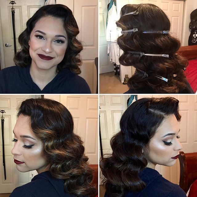 Flawless Finger Waves For This Beaut Hair Was Styled By Pattemoon Suavecitapomade Suavecita Hair Waves Vintage Hairstyles For Long Hair Finger Wave Hair