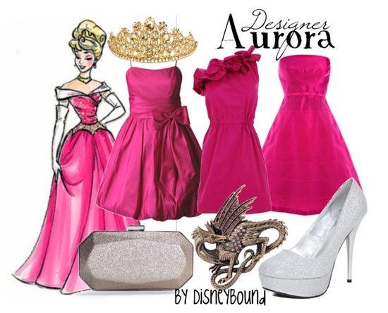 Aurora outfit - by disneybound