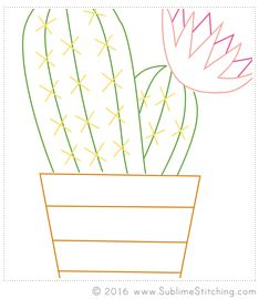 Free embroidery pattern pdf sublime stitching cactus hoop crafts also projects to try rh in pinterest