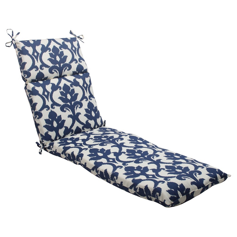 Damask lounge chair - Outdoor Chaise Lounge Cushion Blue White Damask