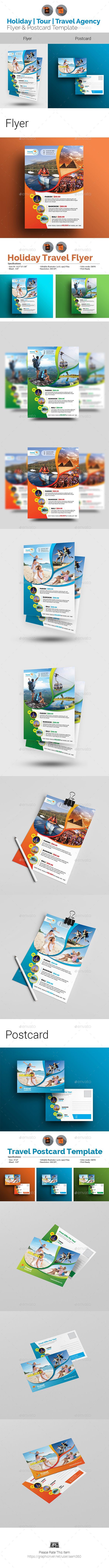 Travel Flyer & Postcard Bundle