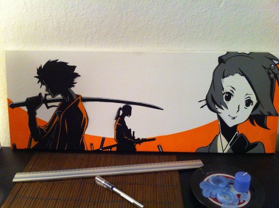 Samurai Champloo By Flow1983 On Deviantart Samurai Champloo Samurai Stencil Graffiti