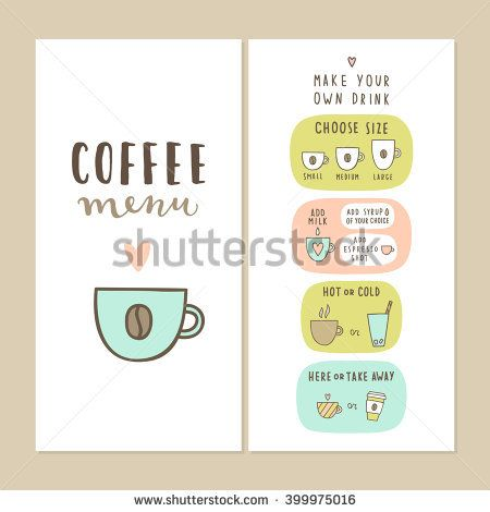 Coffee bar menu template Make your own drink Can be used for your - bar menu template