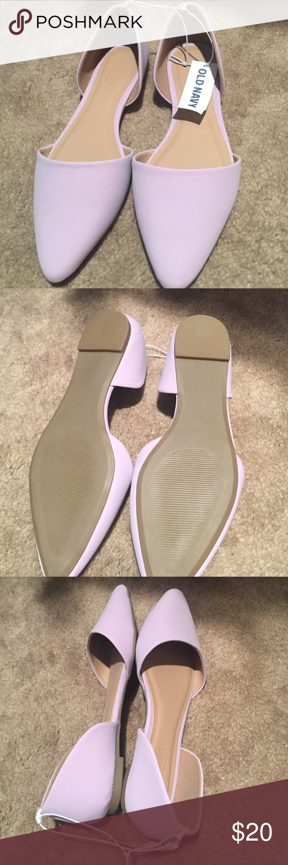 NWT Old Navy D'Orsay Lavender Flats Size 5 New with tags Old Navy flats in super trendy d'orsay style. Beautiful lavender color. Perfect to wear with jeans and a cute sweater! Old Navy Shoes Flats & Loafers