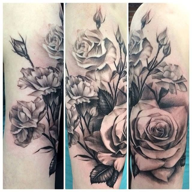 Realistic Flower Tattoos On The Right Forearm Tattoo: Realistic Rose Tattoo - Google-søk
