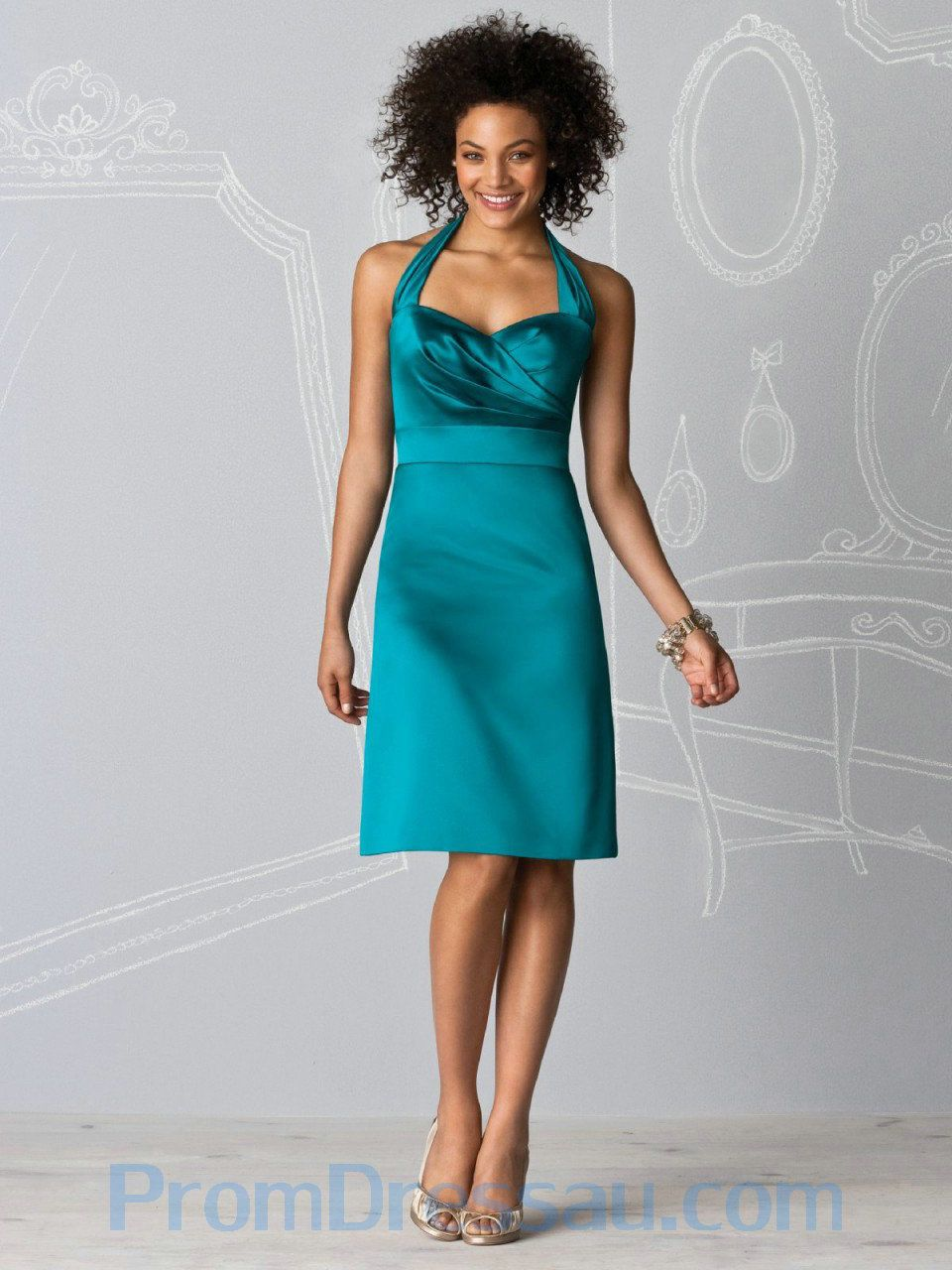 turquoise bridesmaid dresses | ... -Made Sweetheart Halter ...