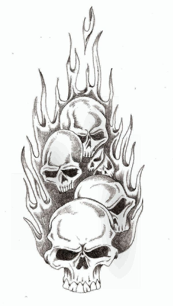 f35eadb66 Skull Flames by TheLob on DeviantArt | drawlings and pic | Skull ...