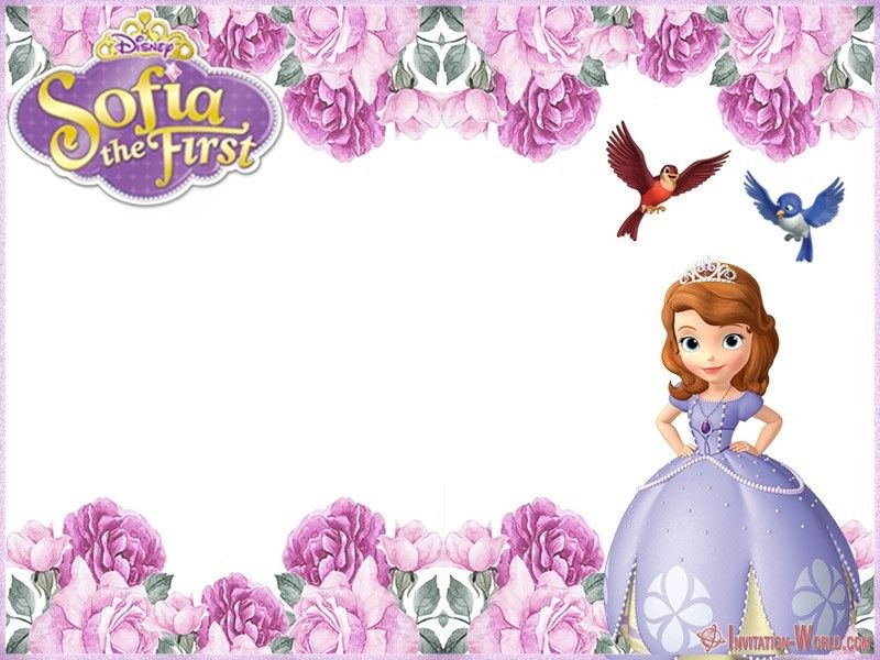 Sofia The First Free Online Invitation Templates In 2020 Sofia Birthday Invitation Sofia The First Birthday Party Princess Sofia Invitations
