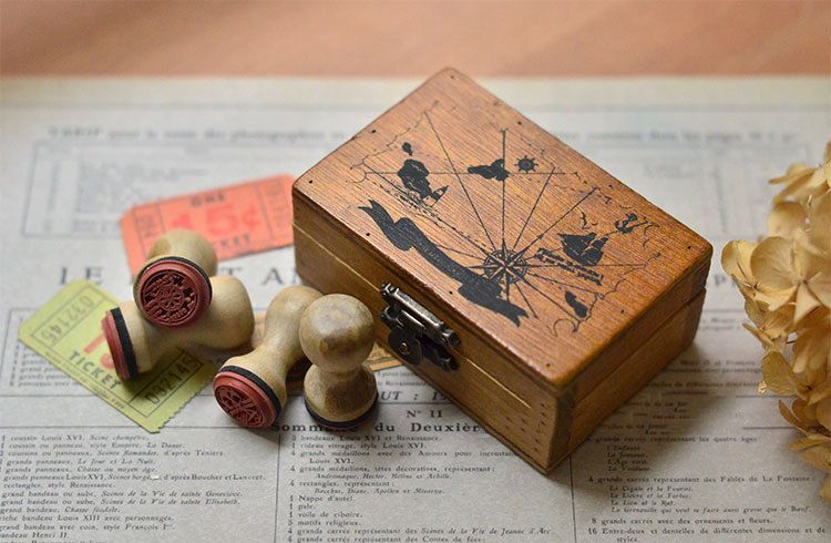 Diy scrapbook retro micro rubber stamp marine pinned by