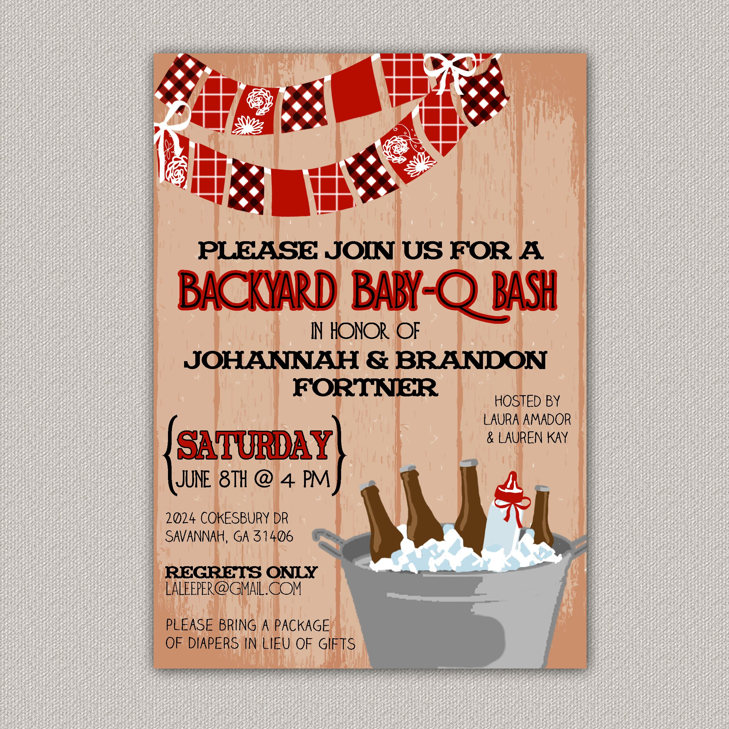 Backyard Baby-Q Bash, BBQ Baby Shower, Custom Invitation, BBQ ...