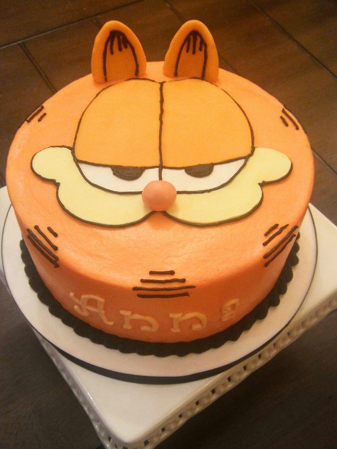 Cool Garfield Cake Birthday Cake From Buttercream And Chocolate Personalised Birthday Cards Veneteletsinfo
