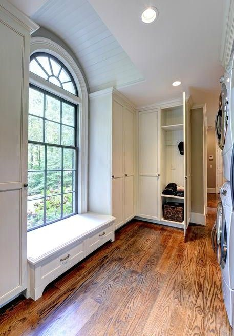 Beau Mudroom Built In Coat Closets Window Seat Studio Entourage, Atlanta, Georgia
