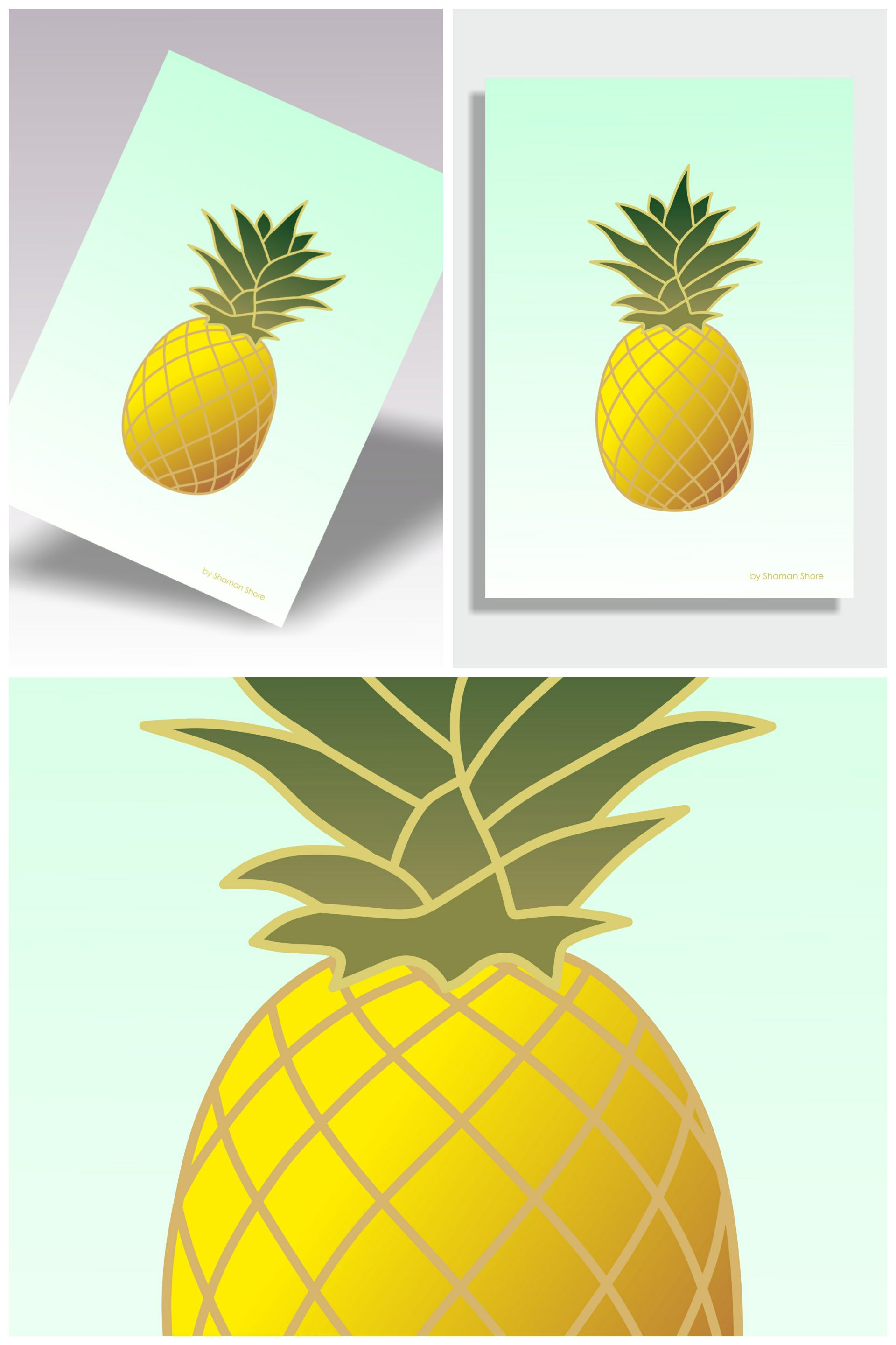 Pineapple Print, Pineapple Décor Wall Print, Pineapple Wall Art ...