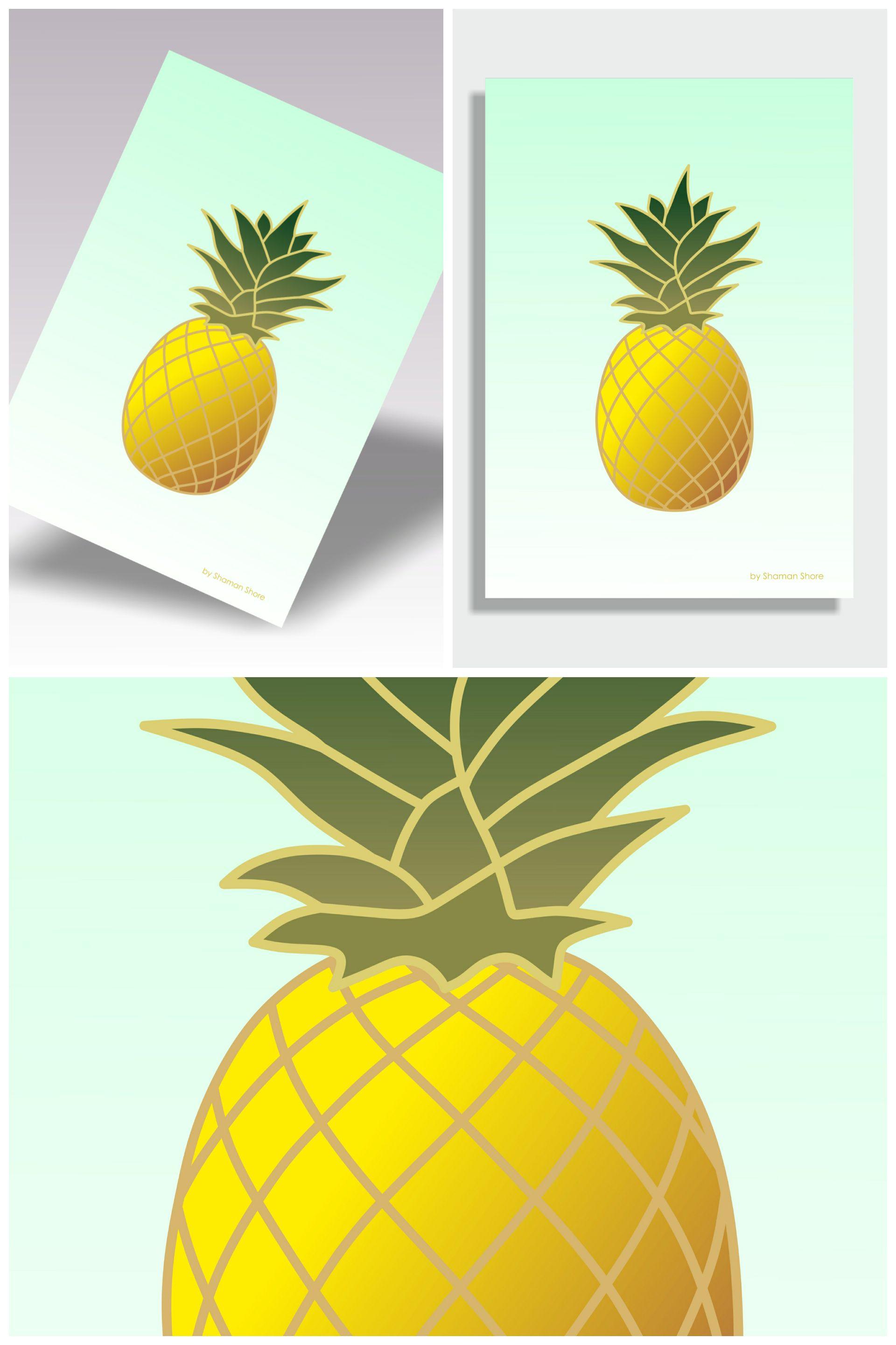 Pineapple Print, Pineapple Décor Wall Print, Pineapple Wall Art ...