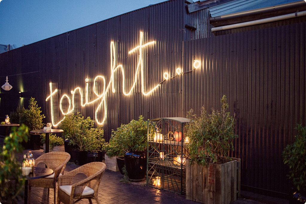 Love the word tonight in lights along with planters and textured love the word tonight in lights along with planters and textured wall junglespirit Images