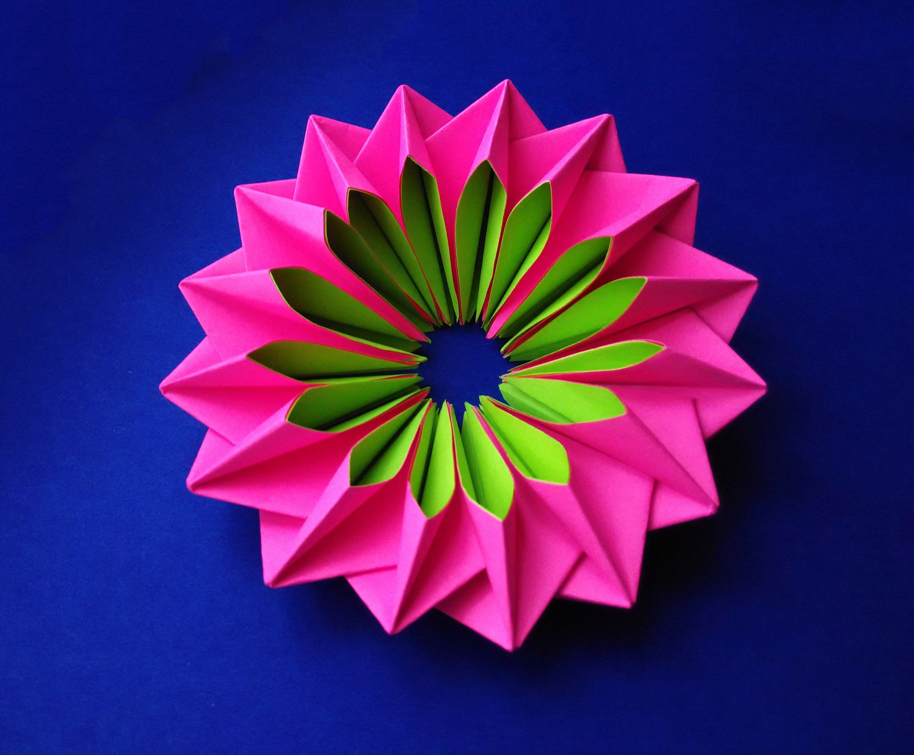 Easy and rich paper flower. DIY Easter decor. Awesome mandala. Bright piece for room decoration