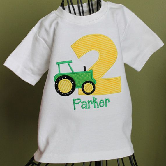 Boys Birthday Applique Tractor Shirt By LeelynnCrafts On Etsy 2300